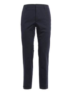 Prada: casual trousers - Cotton gabardine trousers