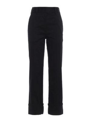 PRADA: pantaloni casual - Pantaloni in drill con risvolti