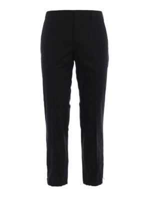 Prada: casual trousers - Elasticated bottom crop trousers