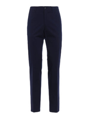 Prada: casual trousers - Gabardine dark blue trousers