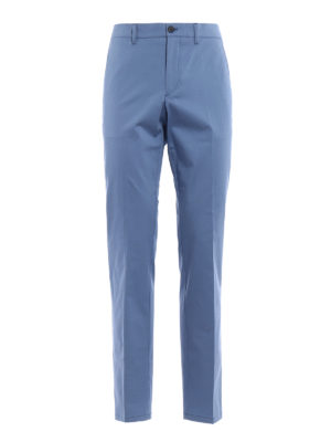 Prada: casual trousers - Gabardine light blue trousers