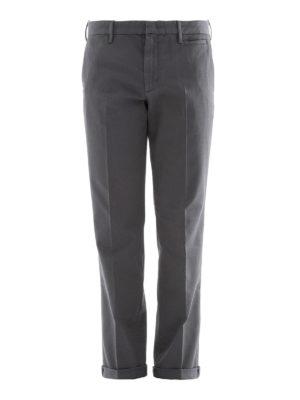 Prada: casual trousers - Grey cotton blend chino pants