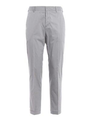 Prada: casual trousers - Grey techno poplin chino trousers