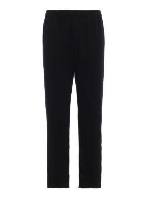 PRADA: pantaloni casual - Pantaloni in lana con tasca in nylon