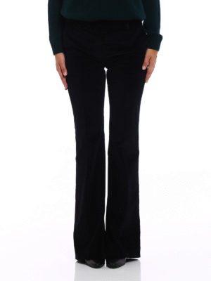Prada: casual trousers online - Black corduroy flared trousers