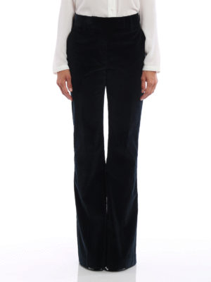 Prada: casual trousers online - Corduroy flared trousers