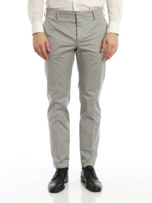 Prada: casual trousers online - Cotton gabardine trousers