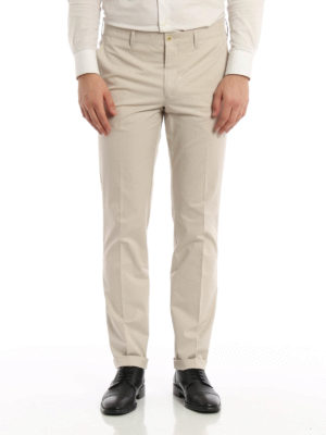 Prada: casual trousers online - Cotton twill chino trousers