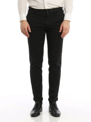 Prada: casual trousers online - Drill cotton trousers