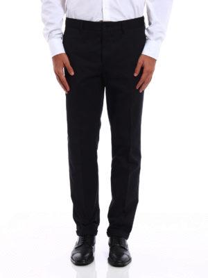 Prada: casual trousers online - Gabardine Light cotton trousers