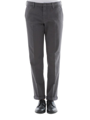 Prada: casual trousers online - Grey cotton blend chino pants