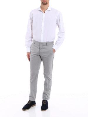Prada: casual trousers online - Grey techno poplin chino trousers