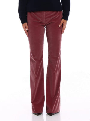 Prada: casual trousers online - Pink corduroy flared trousers
