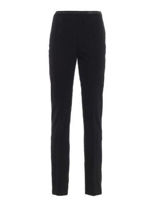 PRADA: pantaloni casual - Pantaloni in tessuto tecnico stretch