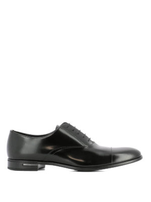 Prada: classic shoes - Black leather Oxford shoes
