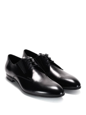 Prada: classic shoes - Brushed leather derby shoes