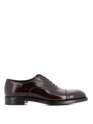 Prada: classic shoes - Burgundy leather Oxford shoes