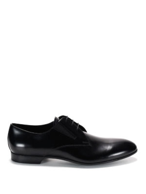 Prada: classic shoes online - Brushed leather derby shoes