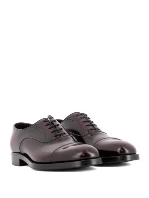 Prada: classic shoes online - Burgundy leather Oxford shoes