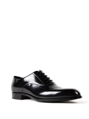 Prada: classic shoes online - Polished leather Oxford shoes