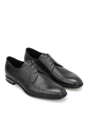 Prada: classic shoes online - Saffiano leather Derby shoes