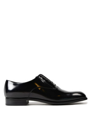 Prada: classic shoes - Polished leather Oxford shoes