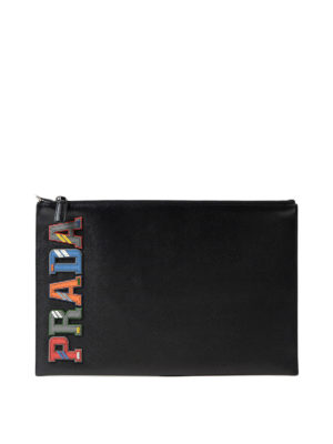 Prada: clutches - Multicolour character pouch