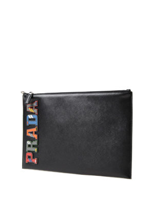 Prada: clutches online - Multicolour character pouch