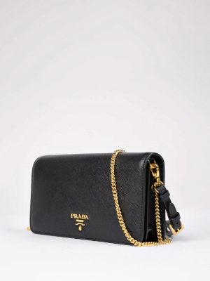 Prada: clutches online - Phone case small saffiano clutch