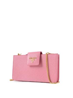 Prada: clutches online - Saffiano leather clutch