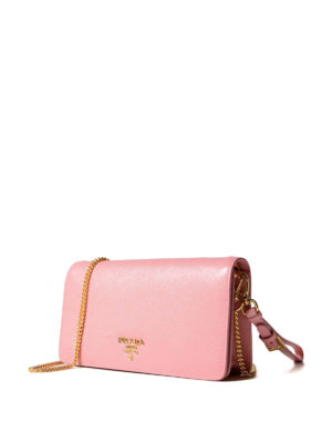 Prada: clutches online - Saffiano phone case small clutch
