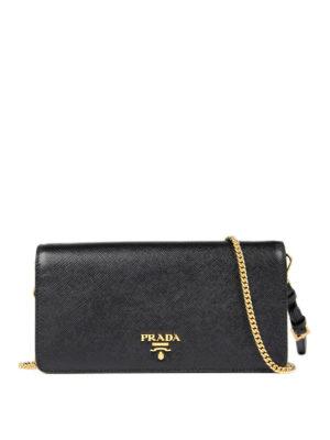 Prada: clutches - Phone case small saffiano clutch