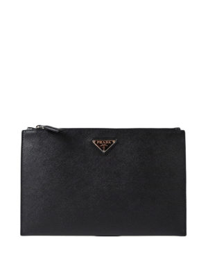 Prada: clutches - Saffiano leather pouch