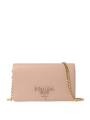 Prada: clutches - Saffiano Monochrome wallet bag