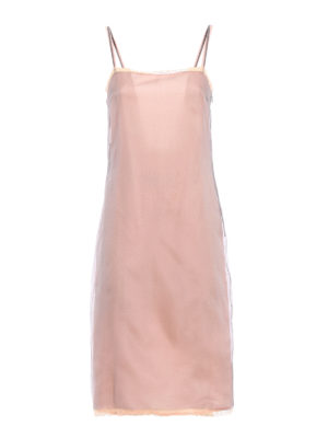 Prada: cocktail dresses - Blue organza layered silk dress