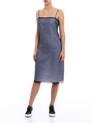 Prada: cocktail dresses online - Pink organza layered silk dress