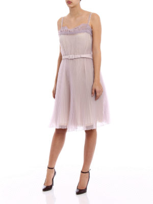 Prada: cocktail dresses online - Pleated Cigaline Tec romantic dress