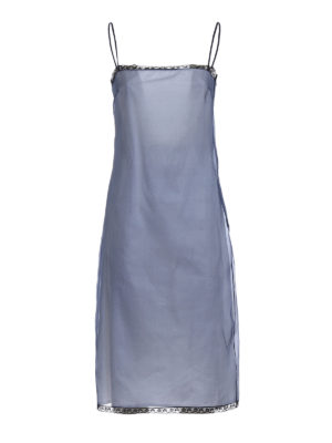 Prada: cocktail dresses - Pink organza layered silk dress