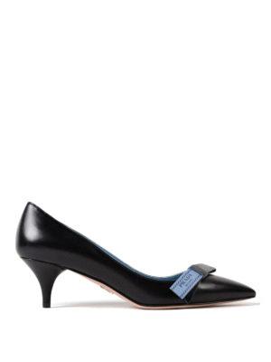 Prada: court shoes - Etiquette bow goatskin pumps
