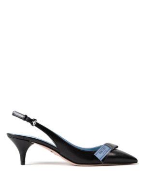 Prada: court shoes - Etiquette bow slingback pumps