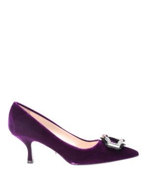 Prada: court shoes - Jewel velvet pumps