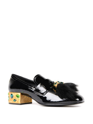 Prada: court shoes online - Embellished patent leather pumps