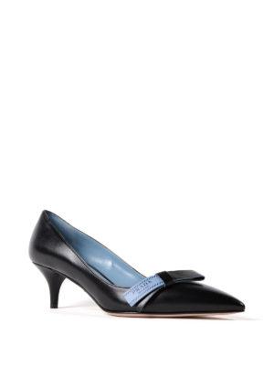 Prada: court shoes online - Etiquette bow goatskin pumps