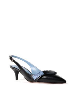 Prada: court shoes online - Etiquette bow slingback pumps
