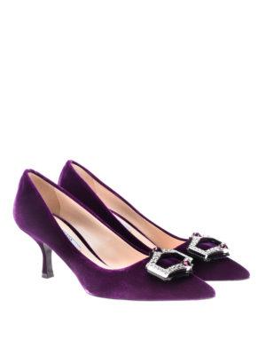 Prada: court shoes online - Jewel velvet pumps
