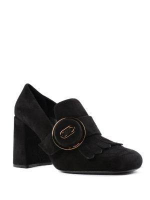 Prada: court shoes online - Suede fringed pumps