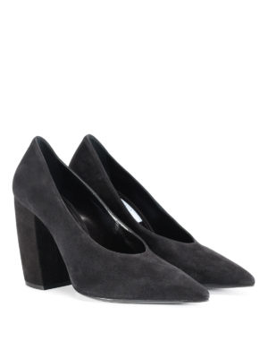 Prada: court shoes online - Suede tapered pumps