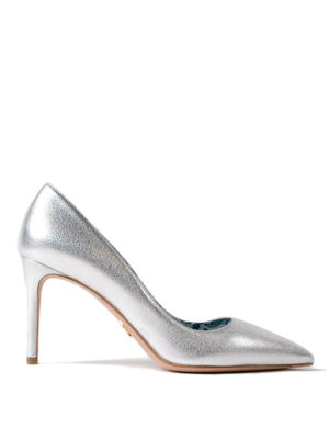 PRADA: scarpe décolleté - Décolleté in pelle argento