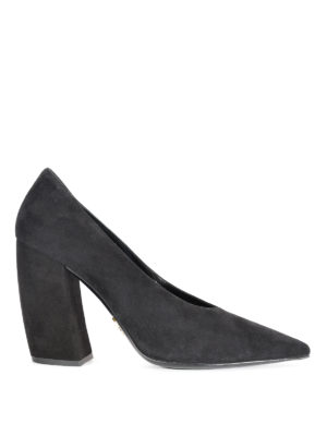 Prada: court shoes - Suede tapered pumps