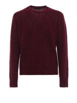 PRADA: maglia collo rotondo - Maglione girocollo in shetland bordeaux